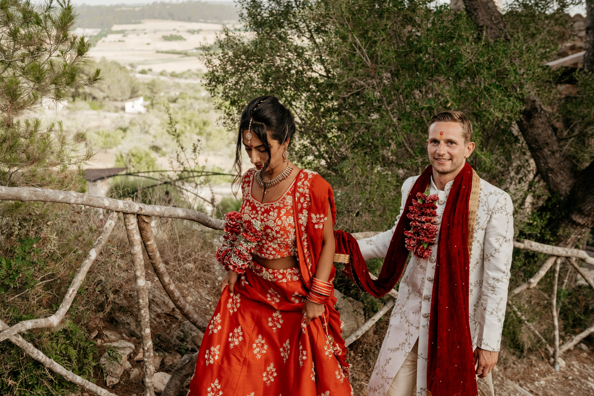 natural wedding photography mallorca boda hindu 0154 1